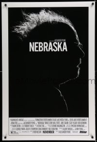 2286UF NEBRASKA advance DS 1sh '13 cool high contrast profile image of Oscar nominee Bruce Dern!