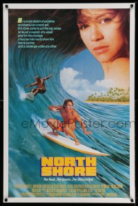 2291UF NORTH SHORE 1sh '87 great Hawaiian surfing image + close up of sexy Nia Peeples!
