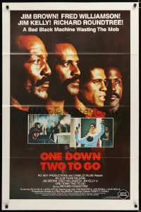 1450TF ONE DOWN, TWO TO GO 1sh '82Fred Williamson, Richard Roundtree, Jim Kelly & Brown!