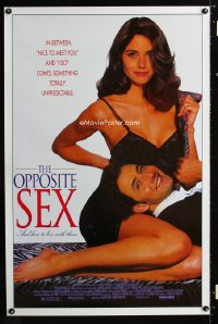 0740UF OPPOSITE SEX & HOW TO LIVE WITH THEM 1sh '93 sexy Courtney Cox in lingerie with Arye Gross!
