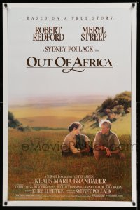 2297UF OUT OF AFRICA 1sh '85 Robert Redford & Meryl Streep, directed by Sydney Pollack!