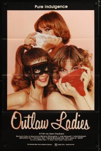 1453TF OUTLAW LADIES 1sh '81 great image of three sexy women with underwear, x-rated!