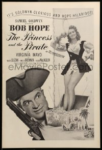 2613 PRINCESS & THE PIRATE pressbook '44 great images of Bob Hope & sexy Virginia Mayo!