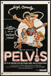 1456TF PELVIS 1sh '77 Elvis sex comedy spoof, wacky sexy Toga Party artwork!