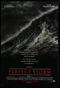 2301UF PERFECT STORM advance DS 1sh '00 Wolfgang Petersen, fishermen George Clooney & Mark Wahlberg