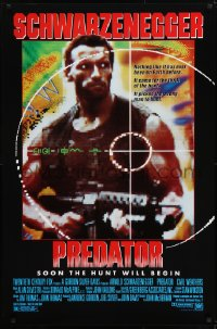 2666UF PREDATOR 1sh 1987 Arnold Schwarzenegger sci-fi, soon the hunt will begin!