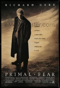 2306UF PRIMAL FEAR 1sh '96 Richard Gere, a man who wears two faces forgets which is one real!
