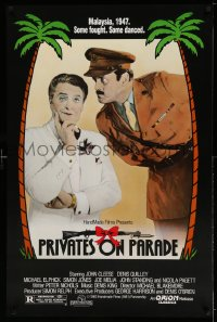 2308UF PRIVATES ON PARADE 1sh '83 John Cleese, Denis Quilley, Patrick Pearson, English comedy!