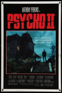 2310UF PSYCHO II 1sh '83 Anthony Perkins as Norman Bates, cool creepy image of classic house!
