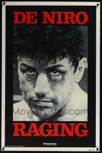 0330UF RAGING BULL teaser 1sh '80 Martin Scorsese, classic close up boxing image of Robert De Niro!
