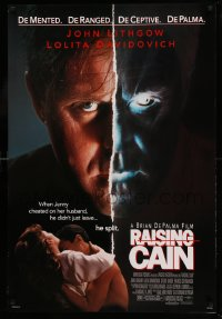 2315UF RAISING CAIN DS 1sh '92 John Lithgow's personality split when his wife cheated,Brian De Palma