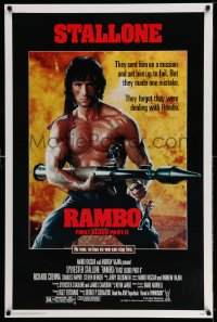 2316UF RAMBO FIRST BLOOD PART II 1sh '85 no law, no war can stop Sylvester Stallone!
