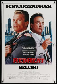 2318UF RED HEAT 1sh '88 Walter Hill, great image of cops Arnold Schwarzenegger & James Belushi!