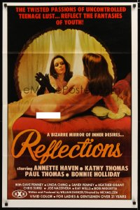 1466TF REFLECTIONS 1sh '77 Annette Haven, great sexy mirror artwork by Giguilliat!