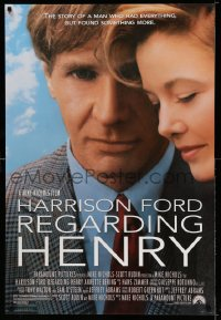 2320UF REGARDING HENRY 1sh '91 Harrison Ford, Annette Benning, directed by Mike Nichols!