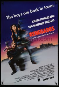 2321UF RENEGADES advance 1sh '89 Keifer Sutherland & Lou Diamond Phillips are back in town!