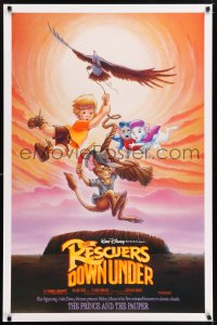 2322UF RESCUERS DOWN UNDER/PRINCE & THE PAUPER DS 1sh '90 Disney cartoon mice in Australia!