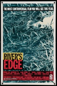 2328UF RIVER'S EDGE 1sh '86 the most controversial film you will see this year!