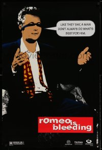 2335UF ROMEO IS BLEEDING teaser 1sh '94 cool stylized image of Gary Oldman with speech balloon!
