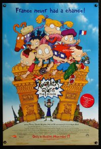 0756UF RUGRATS IN PARIS DS advance 1sh '00 great cartoon art of Nickelodeon kids in France!