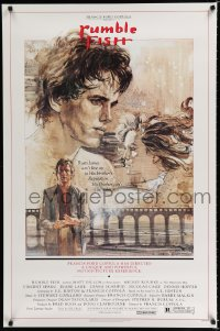 1616UF RUMBLE FISH 1sh '83 Francis Ford Coppola, great art of Matt Dillon by John Solie!