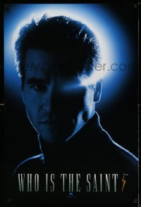 2341UF SAINT teaser 1sh '97 super close portrait of Val Kilmer in the title role!