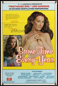 1472TF SAME TIME EVERY YEAR 1sh '81 Penthouse Girl sexy Loni Sanders, Ron Jeremy, sexploitation!