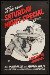 1473TF SATURDAY NIGHT SPECIAL 1sh '76 Jamie Gillis, sexy art of near-naked girl w/huge smoking gun!