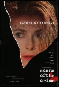 2343UF SCENE OF THE CRIME 1sh '86 Andre Techine, great close up of Catherine Deneuve!