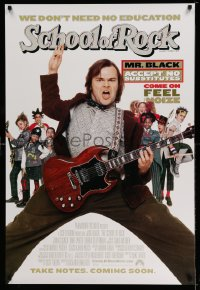 2345UF SCHOOL OF ROCK advance 1sh '03 Jack Black teaches 5th grade school kids how to play music!