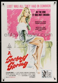 2348FF SECOND SPRING 25x36 1sh '75 art of sexy Irmgard Schonberg, lust was all they had in common!