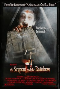 2350UF SERPENT & THE RAINBOW 1sh '88 directed by Wes Craven, don't bury me, I'm not dead!