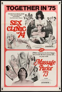1476TF SEX CLINIC '74/MASSAGE PARLOR '7 1sh '75 see it with the love of your life, sexy double-bill!
