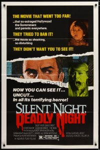 1479TF SILENT NIGHT, DEADLY NIGHT 1sh '84 the movie that went too far, uncut X-mas horror!
