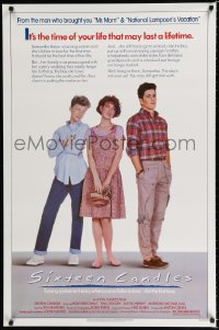 1621UF SIXTEEN CANDLES 1sh '84 Molly Ringwald, Anthony Michael Hall, directed by John Hughes!