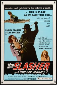 2356TF SLASHER 1sh '74 Farley Granger is the sex maniac who kills only beautiful women!