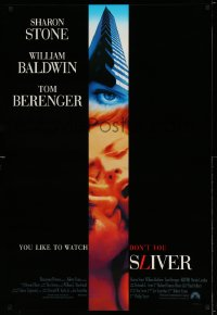 2358UF SLIVER int'l 1sh '93 William Baldwin, sexy Sharon Stone, you like to watch, don't you!