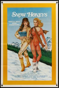 1482TF SNOW HONEYS 1sh '83 sexy Becky Savage & Vanessa Del Rio will melt your inhibitions!