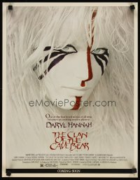 1672UF CLAN OF THE CAVE BEAR special 17x22 '86 best image of Daryl Hannah in cool tribal make up!