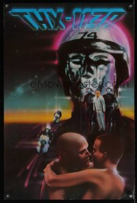 1121UF THX 1138 video 20x30 video poster '83 first George Lucas, completely different image!