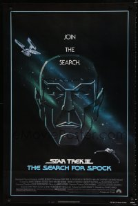 1623UF STAR TREK III 1sh '84 The Search for Spock, different art of Leonard Nimoy by Bob Peak!