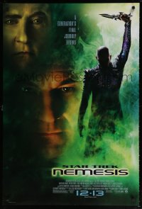 2373UF STAR TREK: NEMESIS advance DS 1sh '02 Patrick Stewart, a generation's final journey begins!