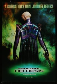 2375UF STAR TREK: NEMESIS int'l teaser DS 1sh '02 Tom Hardy, a generation's final journey begins!