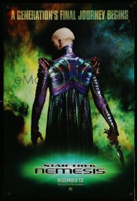 2374UF STAR TREK: NEMESIS domestic teaser DS 1sh '02 Tom Hardy, a generation's final journey begins!