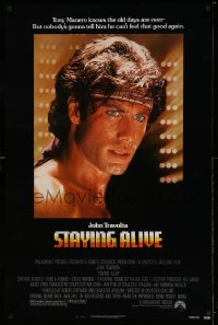 2378UF STAYING ALIVE 1sh '83 directed by Stallone, John Travolta in Saturday Night Fever sequel!