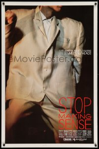 2380UF STOP MAKING SENSE 1sh '84 Jonathan Demme, Talking Heads, close-up of David Byrne's suit!