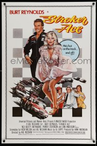 2387UF STROKER ACE 1sh '83 car racing art of Burt Reynolds & sexy Loni Anderson by Drew Struzan!
