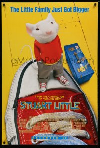 2388UF STUART LITTLE advance DS 1sh '99 voiced by Michael J. Fox, The Little Family Just Got Bigger!