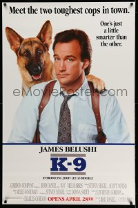 2436UF K-9 half subway '88 great images of James Belushi & German Shepherd police dog partner!