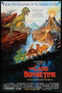 2437UF LAND BEFORE TIME half subway '88 Steven Spielberg, George Lucas, Don Bluth dinosaur cartoon!